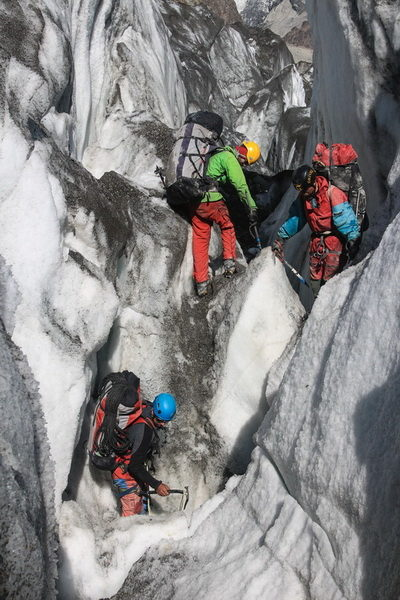 На леднике Бивачный