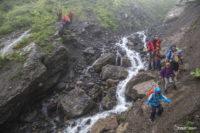Спуск с перевала Гули в дождь