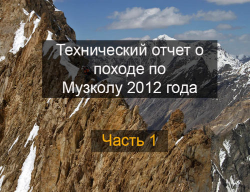 Отчет о горном походе 6 к.с. по Музколу совершенном в июле-августе 2012 года