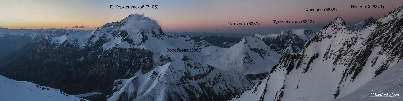 Панорама пика Корженевской