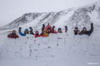 Ветрозащитная стенка в лыжном походе