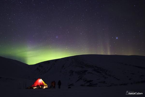 Северное сияние на Полярном Урале