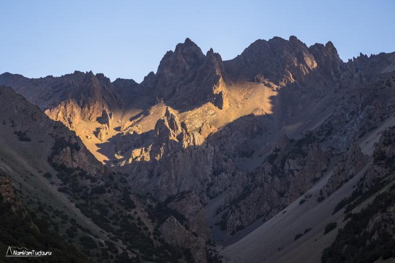 Закат в долине Аксу
