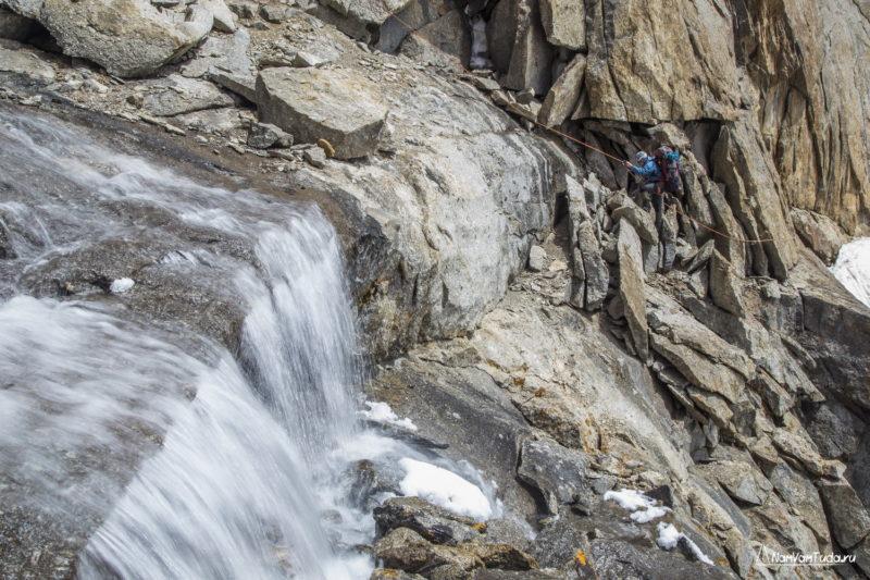 Водопад с перевала Коростылева