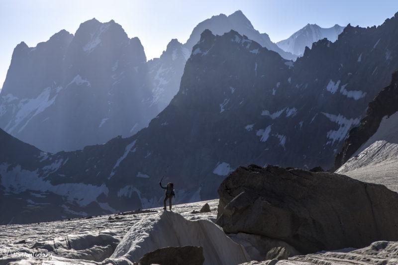 На леднике Урем