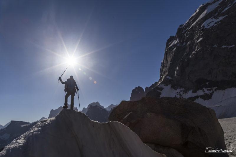 Солнце на леднике