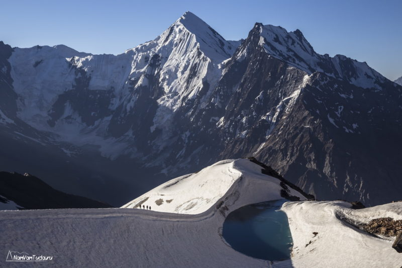 Озеро на леднике Тро