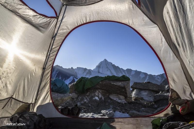 Лагерь под перевалом Блока