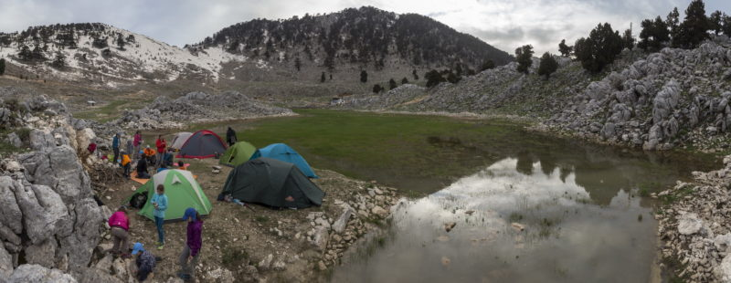 Ночевка под перевалом Тахталы